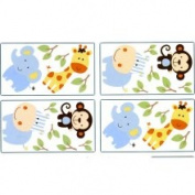 Crown Crafts NoJo 3333100 Jungle Play Wall Decals