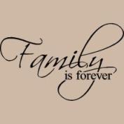 Vinyl Lettering Wall Sayings Family100 Family Is Forever
