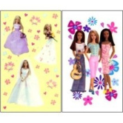 Barbie - Peel and Stick - 8 Window Clings - Decals