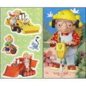 Bob The Builder and Friends - Peel and Stick - 5 Window Clings - Decal