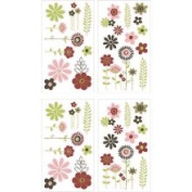 Crown Crafts NoJo 6910100 Chic Blossom Wall Decals