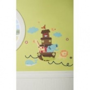 Kids Line 8202wd Kidsline Ark Animals Wall Decals