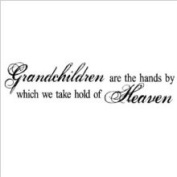 Wall Sayings Vinyl Lettering Grandchildren Are The Hands by Which We Take Hold of Heaven Vinyl Lettering Vinyl Wall Quote Decor Wall Words Sticker Decal Art
