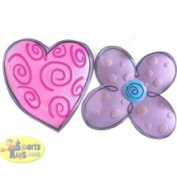 Borders Unlimited Hugs and Kisses Wall Art 2 Heart/Flower