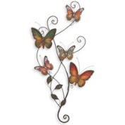 Woodland 13612 Metal Wall Decor Butterfly Sculpture 29x15, Price/EACH