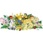 Store51 Jungle Animals Zootles - Large Wall Accent Mural