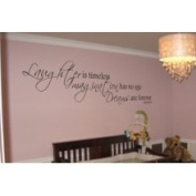 The Custom Vinyl Shop 4126201 Tinkerbell Quote Laughter Is Timeless