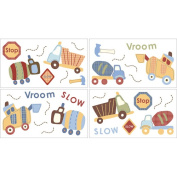 CoCaLo 7043-857 Road Work Wall Appliques