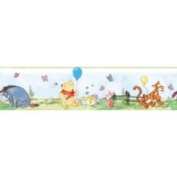 Fun House Disney Winnie The Pooh Peel and Stick Wall Border