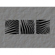 The Custom Vinyl Shop 3614181 Zebra Print Panels Wall Art Decal