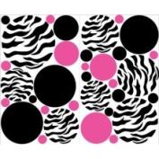Presto Chango Decorinc 4806129 Mini- Zebra Print Hot Pink and Black