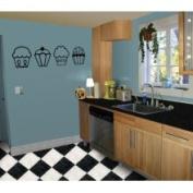 The Custom Vinyl Shop 5262751 4 Cupcakes Kitchen Nursery Wall