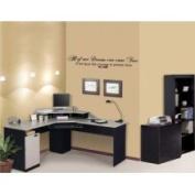 The Custom Vinyl Shop 4977156 Walt Disney Dream Quote Wall Art