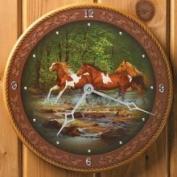 Wild Wings Horses Wall Clock