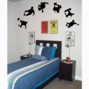 The Custom Vinyl Shop 3839340 6 Skateboarders Boy Wall Stickers Art