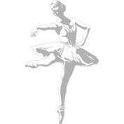 Borders Unlimited Bu1748 Sudden Shadows Ballerina Dance Ballet Wall