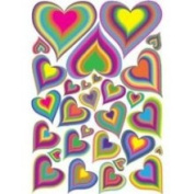 Presto Chango Decorinc 8140103 29 Rainbow Heart Wall Decals Stickers