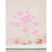 Babies R US 1011187 FC56A962 Little Boutique Flocked Decal - Butterflies and Flowers