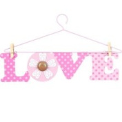 Little Boutique Hanger Wall Art - Pink Love