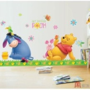 Mural Art Wall Stickers-PoohFriends DS58374