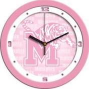 Memphis Tigers 30.5cm Pink Wall Clock