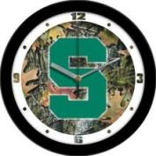 Linkswalker Michigan State Spartans MSU NCAA 30.5cm Camo Wall Clock 30.5cm