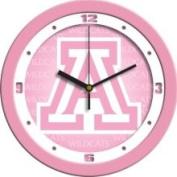 Linkswalker Arizona Wildcats UA NCAA 30.5cm Pink Wall Clock 30.5cm