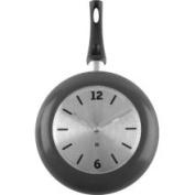 Present Time Wok Time Wall Clock, Metal Black