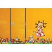 ADZif L5302-AJV5 Ludo Lou in Flowers Wall Decal