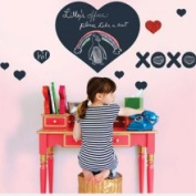 WallCandy Arts 'Chalkboard Heart' Wall Decal (Girls) none One Size