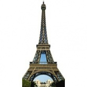 Eiffel Tower Wall Graphic - Eiffel Tower Removable Wall Graphic - Party Supplies & Parisian Decorations