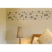 Spot Birds on A Wire Wall Decal ADZif Colour