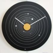 Bai Design Clocks Expose Aluminium Wall Clock Solar System Black 915.SS