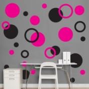Fathead Black & Hot Pink Polka Dots Wall Graphic 69-00194