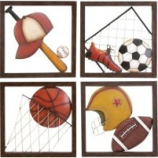 Casa Cortes Diversity of Sports Metal Wall Decor