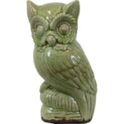 Green Ceramic Owl (urban Trends Collection) 76379