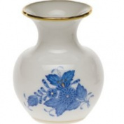 Herend Chinese Bouquet Blue Bud Vase, 2.75 H