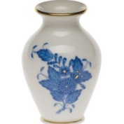Herend Chinese Bouquet Blue Bud Vase, 2.5 H