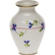Herend Blue Garland Bud Vase, 2.5 H