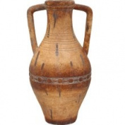 ecWorld Enterprises, Inc. 7707716 Porto Fino Distress Terra Cotta Tall Ceramic Vase