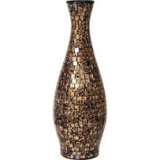 PoliVaz Gold and Black Small Mosaic Decorative Vase (Indonesia)
