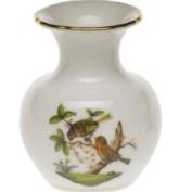 Herend Rothschild Bird Bud Vase, 2.75 H