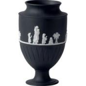 Wedgwood Jasper Classic Giftware Large Vase, White on Black