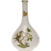 Herend Rothschild Bird Bud Vase, 5.25 H