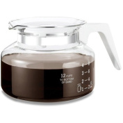 one all GL200W Universal 12-cup Glass Coffee Replacement Carafe White