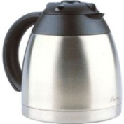 Capresso 4471.01 10-Cup Stainless Vacuum Replacement Carafe with Li...