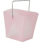 Jam Paper Large Pink Plastic Chinese Takeout Container 4 x 3 1/2 x 4 - Sold Individually