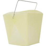 Jam Paper Large Yellow Plastic Chinese Takeout Container 4 x 3 1/2 x 4 - Sold Individually