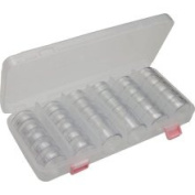 Se 87318DB 3.8cm Round Plastic Storage Containers Screw Together