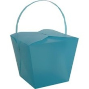 Jam Paper Jumbo Blue Plastic Chinese Takeout Container 9 1/2 x 8 1/2 x 7 1/4 - Sold Individually 2966545